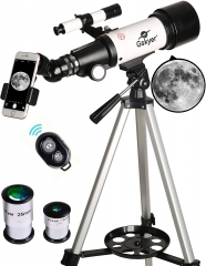 Telescope, 70mm Aperture 400mm AZ Mount Astronomical Refracting Telescope for Kids Beginners - Travel Telescope with Carry Bag, Phone Adapter and Wire