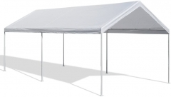 10 X 20-Feet Domain Carport, White