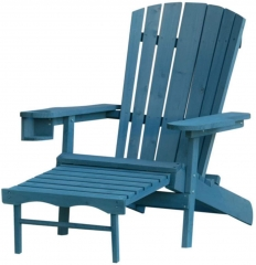 RA123-2 W Unlimtied Outdoor Adirondack Chair with Ottoman Set