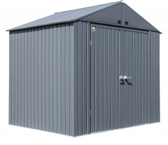 Shed 8' x 6' Elite Steel Shed with High Gable and Lockable Doors Storage Building, Anthracite