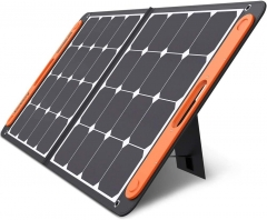 SolarSaga 100W Portable Solar Panel for Explorer 160/240/500/1000 Power Station, Foldable US Solar Cell Solar Charger with USB Outputs for Phones (Can