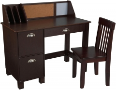 Kid Study Desk with Chair-Espresso