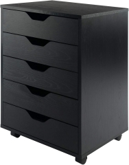 Halifax Storage/Organization, 5 drawer, Black