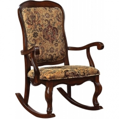 Sharan Rocking Chair in Fabric & Cherry