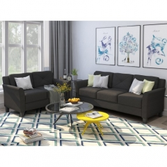 Button Tufted 2 Piece Loveseat Sofa Set