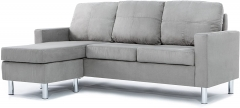 Furniture Modern Sectional sofa, Grey