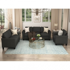 Polyester-blend 3 Pieces Sofa Set