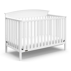 Graco Benton 4-in-1 Convertible Crib | Crib/Toddler bed/Daybed/full-size bed | 04530-211 model | White color