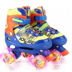 Adjustable Roller Skates for Girls and Women, All 8 Wheels of Girl's Skates Shine, Safe and Fun Illuminating for Kids