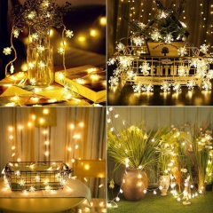 LED Snowflake String Lights Decoration