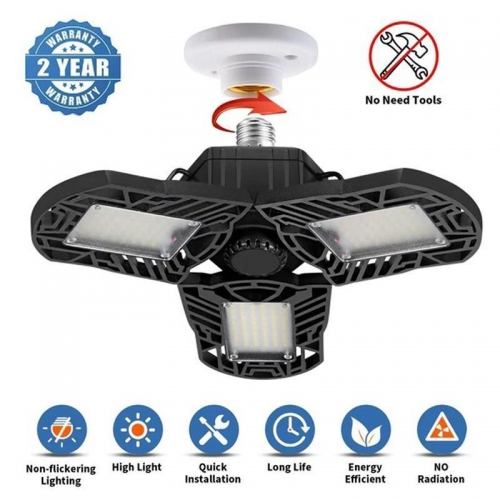 (2020 Upgraded)Hot Sale 60%OFF !Four-Leaf LED Garage Lights(BUY 2 FREE SHIPPING)