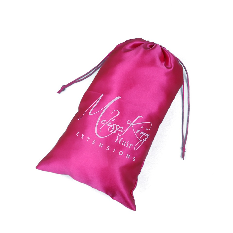 CUSTOM SATIN BAGS FOR HAIR EXTENSIONS
