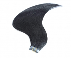 Straight 1# Jet Black Tape Hair Extensions 40PCS