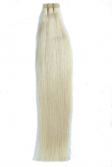 Straight 60# Platinum Blonde Tape Hair Extensions 40PCS