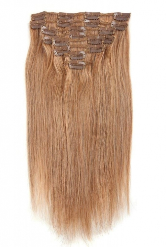 Straight 12# Darkest Blonde Clip in Hair Extensions 120gram