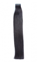 Straight 1b# Off/Nature Black Tape Hair Extensions 40PCS