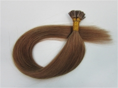 Straight 8# Chesnut Brown I-tip Hair Extensions 50Strands