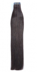 Straight 2# Dark Brown Tape Hair Extensions 40PCS