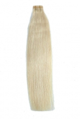 Straight 613# Bleach Blonde Tape Hair Extensions 40PCS