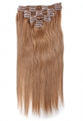 Straight 8# Chesnut Brown Clip in Hair Extensions 120gram