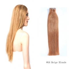 Straight 16# Beige Blonde Tape Hair Extensions 20PCS