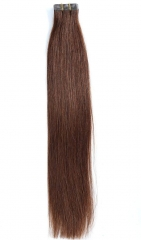 Straight 4# Medium Brown Tape Hair Extensions 40PCS