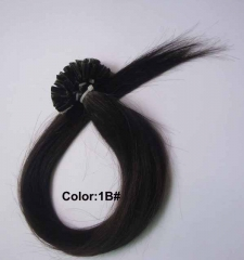 Straight 1b# Off/Nature Black Nail-tip Hair Extensions 100Strands