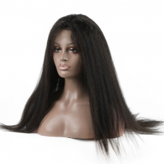 Kinky Straight Human hair Full Lace Wigs