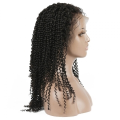 Kinky Curly Human hair Lace Front Wigs