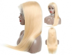 Straight Human hair 613 Blond Lace Front Wigs