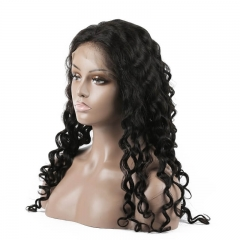 Water Wave Human hair Full Lace Wigs