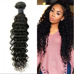 Deep Wave Virgin Hair Weave 7A