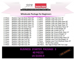 Virgin hair package 3 for business beginners