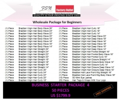 Virgin hair package 4 for business beginners