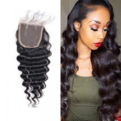 Brazilian Loose Curly Lace Closure 4x4 New