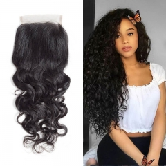 Brazilian Natural Wave Lace Closure 4x4 New