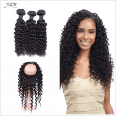 7A Brazilian Deep Wave 3 Bundles With 360 Frontal