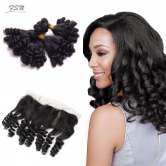 7A Brazilian Funmi 4 Bundles With Lace Frontal 13x4