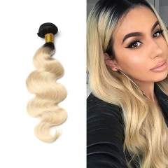 Body Wave 1B/613 Blonde Human Virgin Hair Weave 7A