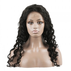 Water Wave Human hair Full Lace Wigs 2020