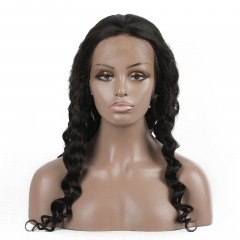 Loose Curly Human hair Full Lace Wigs 2020