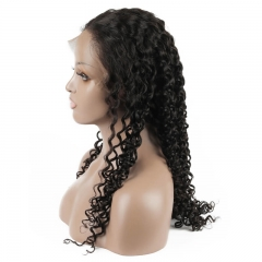 Jerry Curly Human hair Lace Front Wigs