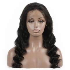 Loose Wave Human hair Full Lace Wigs 2020