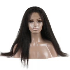 Kinky Straight Human hair Full Lace Wigs 2021