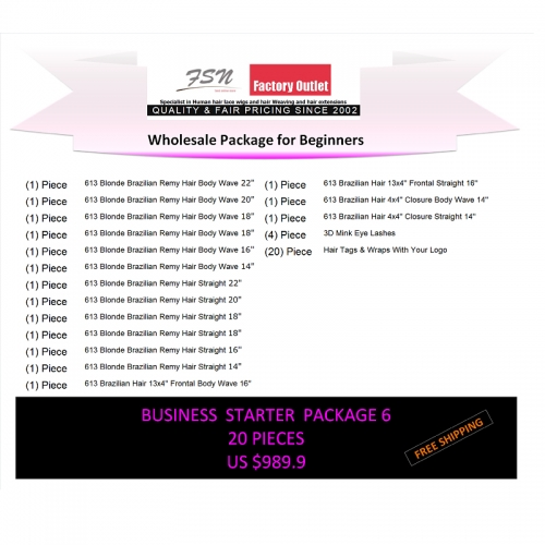 Virgin hair package 6 for business beginners