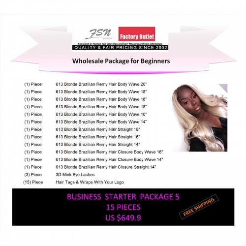 Virgin hair package 5 for business beginners