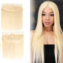 613 Blonde Straight Lace Frontal 13x4