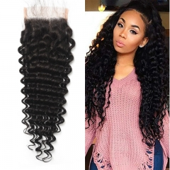 Brazilian Deep Wave Lace Closure 4x4 New