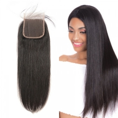 Brazilian Straight Lace Closure 4x4 New