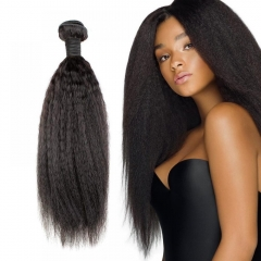 Mongolian Kinky Straight Virgin Hair Weave